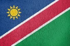 Textura de la bandera de Namibia Foto de archivo libre de regalías