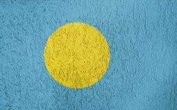 Textura de la bandera de Palau Imagen de archivo