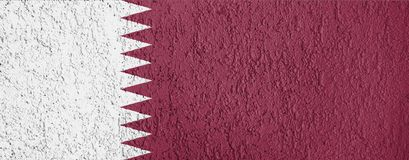 Textura de la bandera de Qatar Fotos de archivo libres de regalías