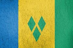 Textura de la bandera de San Vicente y las Granadinas Fotos de archivo