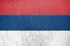 Textura de la bandera de Serbia Imagen de archivo