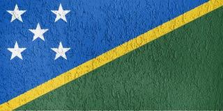 Textura de la bandera de Solomon Island Imagen de archivo libre de regalías