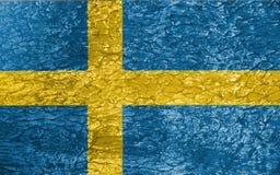 Textura de la bandera de Suecia Foto de archivo libre de regalías