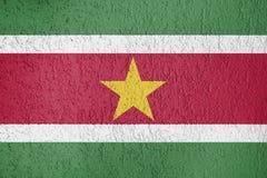 Textura de la bandera de Suriname Foto de archivo