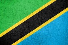 Textura de la bandera de Tanzania Imagenes de archivo
