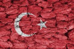 Textura de la bandera de Turquía imagenes de archivo