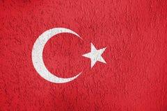 Textura de la bandera de Turquía Imágenes de archivo libres de regalías