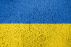 Textura de la bandera de Ucrania Fotos de archivo