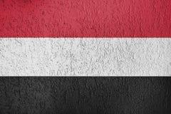Textura de la bandera Yemen Imagen de archivo libre de regalías