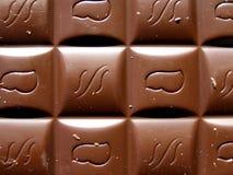 Textura de la barra de chocolate Fotos de archivo libres de regalías