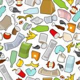Textura de la basura Modelo inconsútil de los desperdicios ornamento de la basura litte libre illustration
