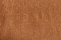 Textura de la bolsa de papel de Brown Fotos de archivo libres de regalías
