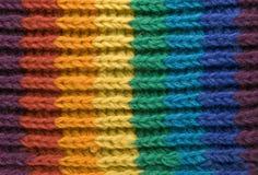 Textura de la bufanda del arco iris Imagenes de archivo