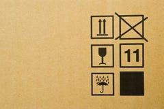 Textura de la caja de cartón Fotografía de archivo