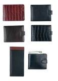 Textura de la cartera de los hombres Imágenes de archivo libres de regalías