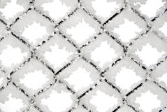 Textura de la cerca de Chainlink congelada Fotografía de archivo