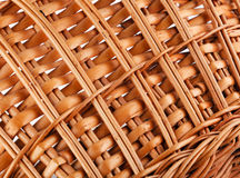 Textura de la cesta de mimbre Fotografía de archivo