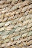 Textura de la cuerda de la paja Fotografía de archivo