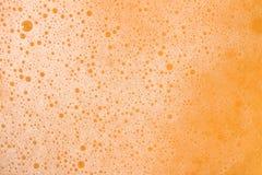 Textura de la espuma de la cerveza Fotografía de archivo libre de regalías