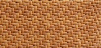 Textura de la estera de la paja. Foto de archivo