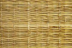 Textura de la estera de la paja Fotografía de archivo libre de regalías