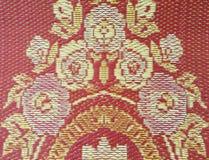 Textura de la estera roja Imagen de archivo