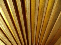 Textura de la fan del oro Fotos de archivo