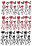 Textura de la flor del corazón stock de ilustración