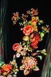 Textura de la flor rayada de la tela de la impresión Imagen de archivo libre de regalías
