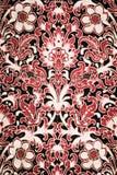 Textura de la flor rayada de la tela de la impresión del vintage Foto de archivo