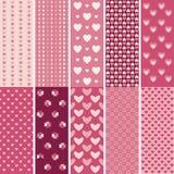 Textura de la forma del corazón Fotografía de archivo