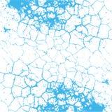 Textura de la grieta con las grietas azules Fotografía de archivo