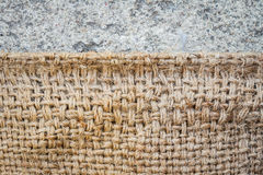 Textura de la harpillera Foto de archivo