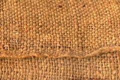 Textura de la harpillera para el fondo Fotografía de archivo libre de regalías