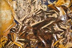 Textura de la hoja de oro Fotografía de archivo