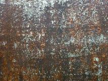 Textura de la hoja pintada oxidada vieja del hierro Fotos de archivo