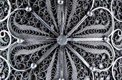 Textura de la joyería de plata Foto de archivo libre de regalías