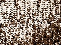 Textura de la lentejuela que brilla en color marrón imágenes de archivo libres de regalías