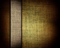 Textura de la lona de Brown y tira amarillenta como fondo fotografía de archivo libre de regalías