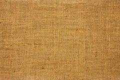 Textura de la lona marrón Imagen de archivo
