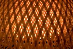 Textura de la luz transparente del CCB de bambú tejido de la lámpara Fotografía de archivo libre de regalías