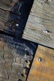 Textura de la madera quemada Fotografía de archivo