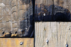 Textura de la madera quemada Imagenes de archivo