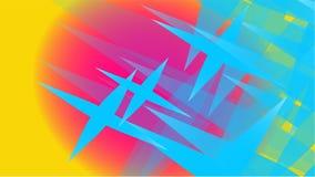 Textura de la magia de moda volumétrica abstracta azul transparente de diversas formas de estrellas talladas cósmicas del aire li stock de ilustración