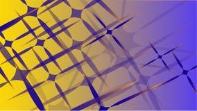 Textura de la magia de moda volumétrica abstracta azul transparente de diversas formas de las estrellas talladas cósmicas del air stock de ilustración