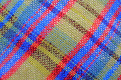 Textura de la manta tejida de la comida campestre Fotos de archivo libres de regalías