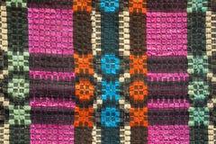 Textura de la materia textil colorida tradicional de la manta Carpe rústico étnico Foto de archivo libre de regalías