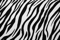 Textura de la materia textil de la cebra Fotografía de archivo