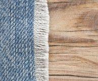 Textura de la mezclilla azul Fotografía de archivo libre de regalías