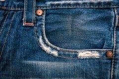 Textura de la mezclilla del dril de algodón fotografía de archivo